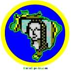 Máscara mapa do Brasil