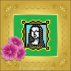 Quadrada gold com flor